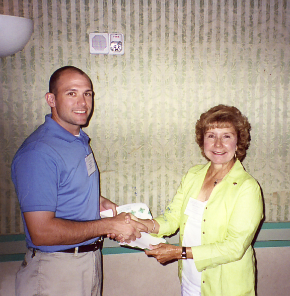 Geri Cashion with Jeff Hertz, 1st-prize-winner of the  FES 2006 MS-level student paper contest