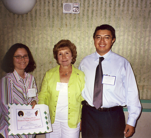 Geri Cashion and Marco Toapanta with Karla Addesso, winner ot the 2006 Phd-student competition