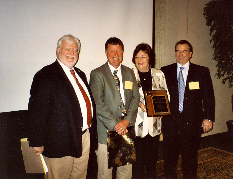 Freddie Johnson (left) and Joe Funderburk w/ Pioneer Lecture Honorees, Madeline and David Mellinger