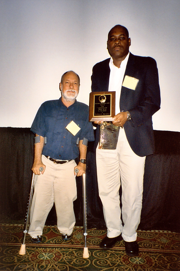 Richard Mankin receives 2008 Special Service Award from Oscar Liburd