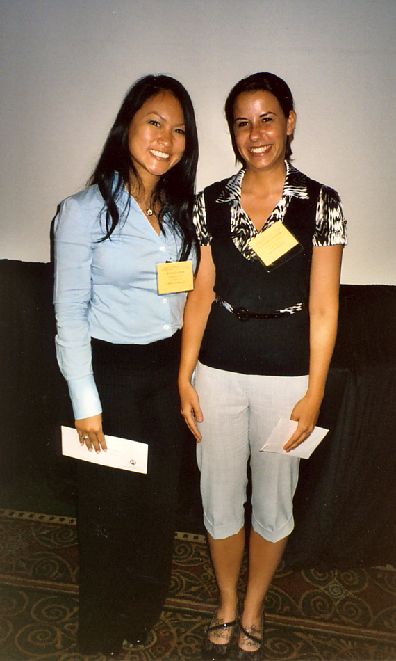 MS student competition awardees, Wai-Han Chan and Margaret Pfiester