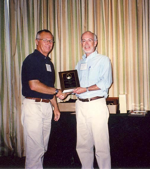 Steve Lapointe receives 2009 Achievement Award for Research from Scott Ferguson