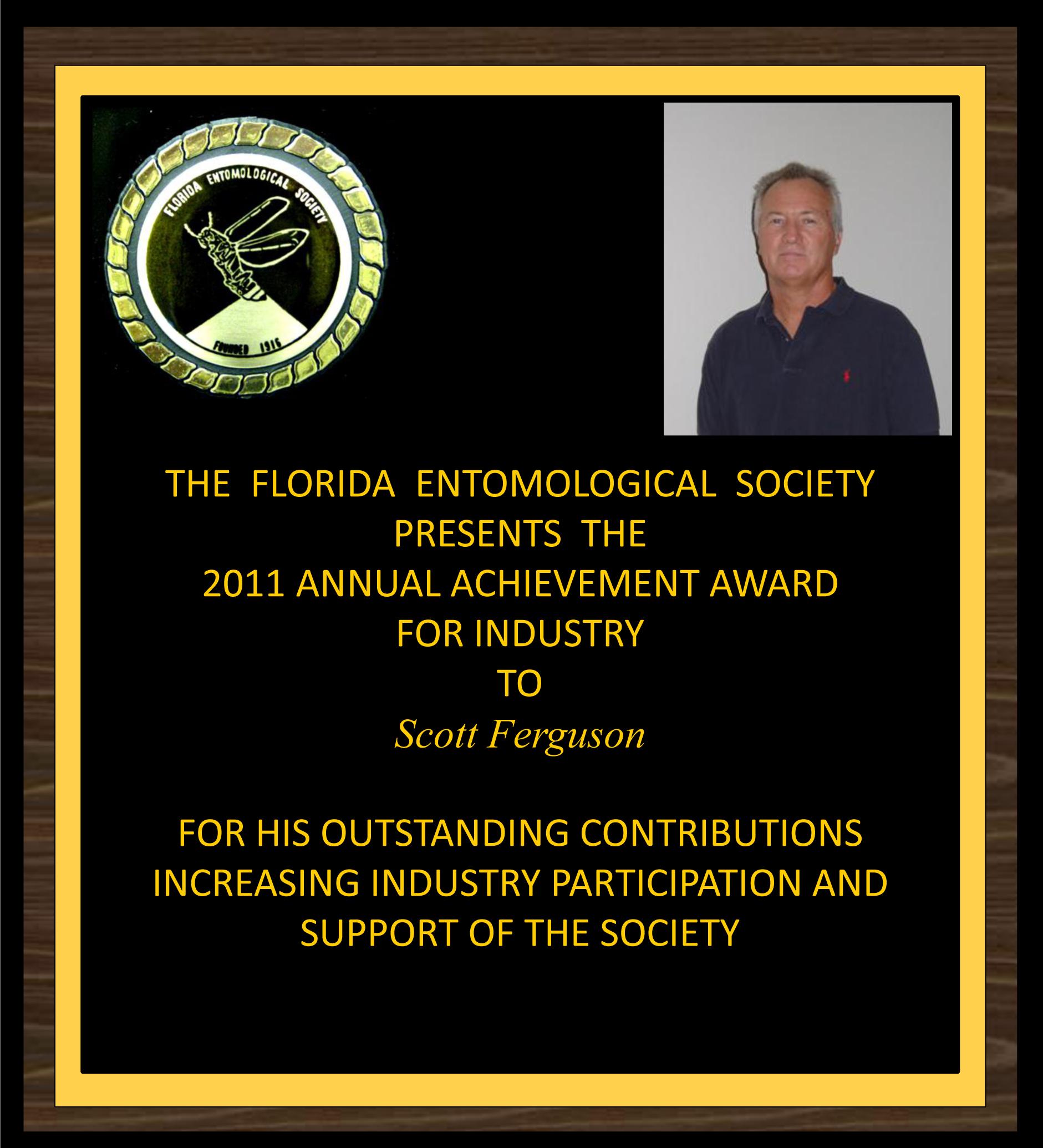 Scott Ferguson receives 2011 FES Achievement Award for Industry