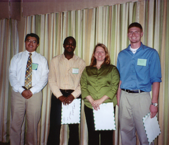 Marco Toapanta with winners of the FES 2005 MS-level student paper contest (left to right):