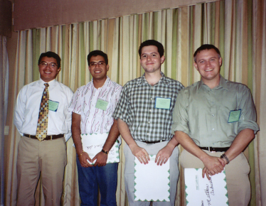 Marco Toapanta with winners ot the 2005 Phd-student competition (left to right):
